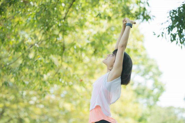 健康1 運動を積極的に行っている人